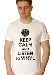 Футболка Keep Calm and Listen to Vinyl - НА ЗАКАЗ