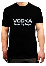 прикольная футболка vodka connecting people