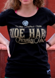 Ride Hard — мотофутболка женская