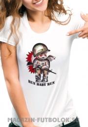 Клёвая футболка Run Baby Run
