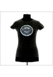 Серая женская футболка с надписью Heineken