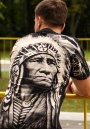 шаман - футболка с индейцем