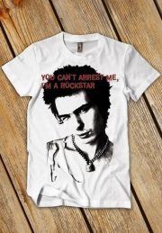 футболка sid vicious you cant arrest me - на заказ