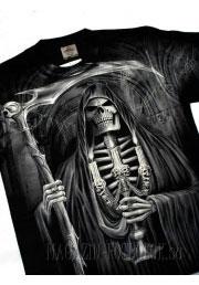 скелет с косой - футболка с 3д рисунком
