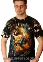 череп сигара футболка 3d изображение