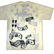 стильная футболка доллары и женщины