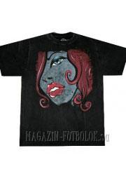 стильная футболка  lips and hair