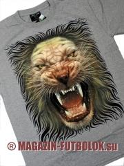 светящаяся футболка со львом