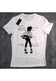 Унисекс футболка c прикольным гитаристом