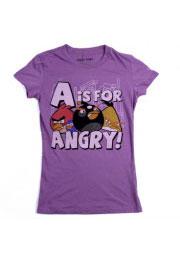 винтажная футболка angry birds is for angry