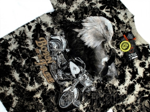 футболка с орлом байкерская