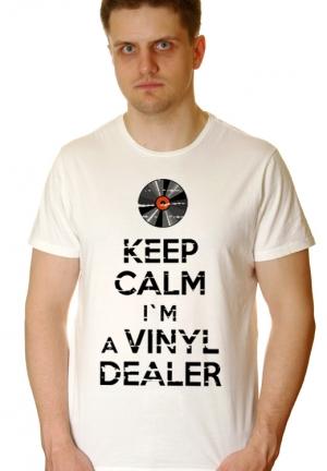 футболка keep calm i`m a vinyl dealer - на заказ