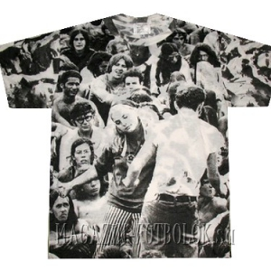 витнажная футболка woodstock белая