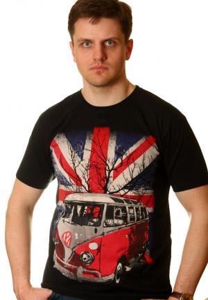 футболка с британским флагом - volkswagen