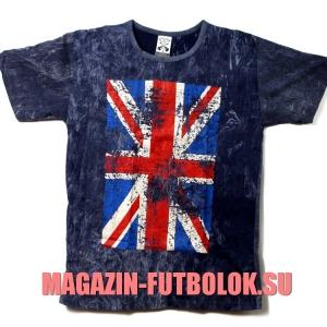 вываренная футболка с британским флагом