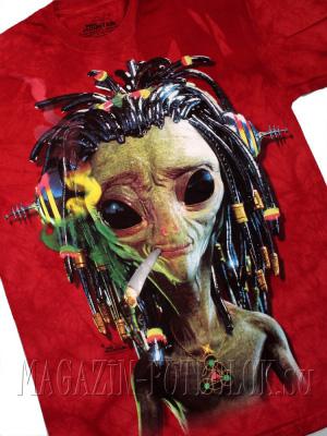 яркая футболка jammin alien