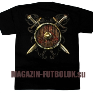 3d футболка viking warrior shield
