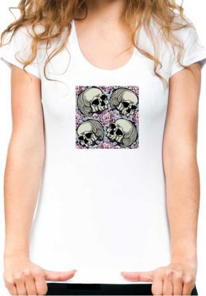 футболка 4 skulls rose girls