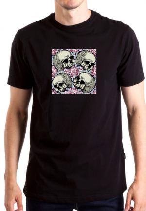 футболка 4 skulls rose