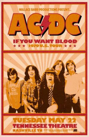постер aс-dс 1979 concert poster