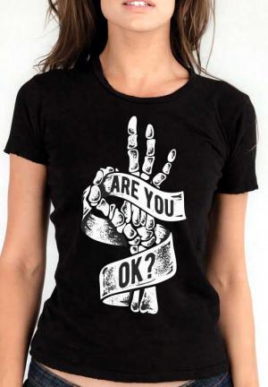 футболка are you ok  girls