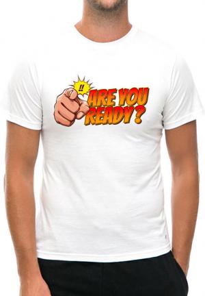 футболка are you ready white