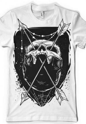 футболка стрелы и череп - arrows