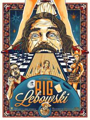 постер big lebowski poster