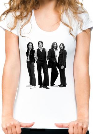 женская футболка beatles 4 bw girls