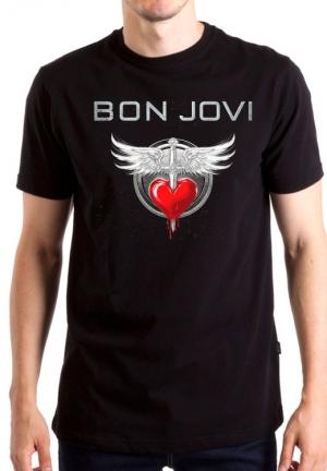 футболкa bon jovi wings and heart