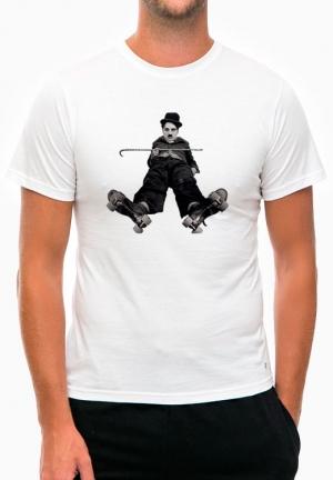 футболка charlie chaplin roller