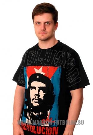 футболка che guevara с кубинским флагом
