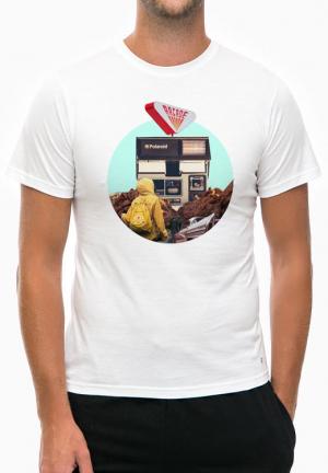 футболка collage polaroid white