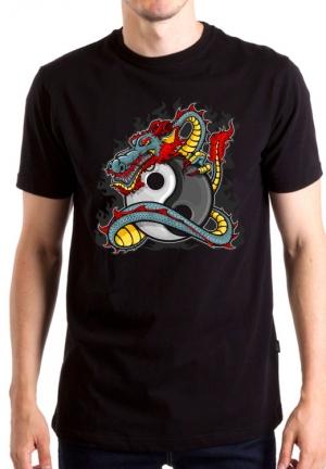 футболка огненный дракон инь-янь