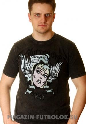 girl face - клубная футболка мужская