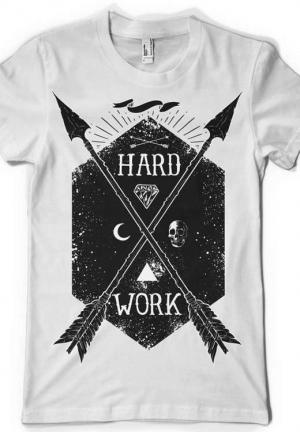 футболка hard work