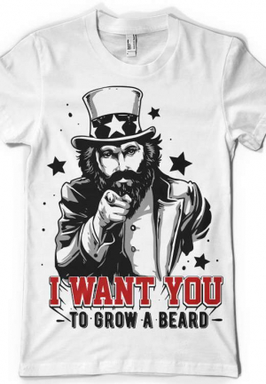 футболка i want you to grow a beard