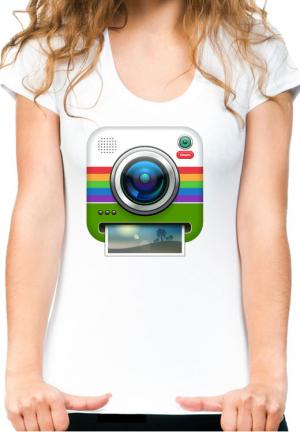 футболка instagram camera girls white