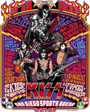 постер kiss concert poster
