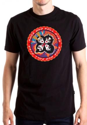 футболка kiss over rock-n-roll
