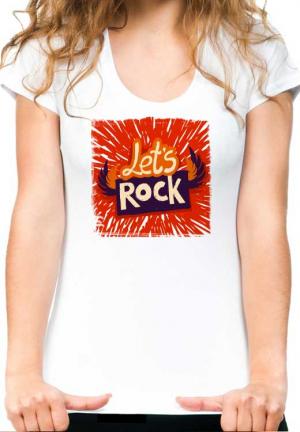 женская футболка lets rock