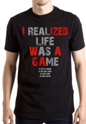 футболка life was a game