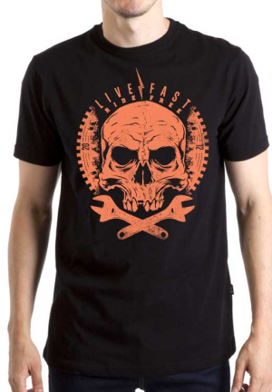 футболка live fast ride free