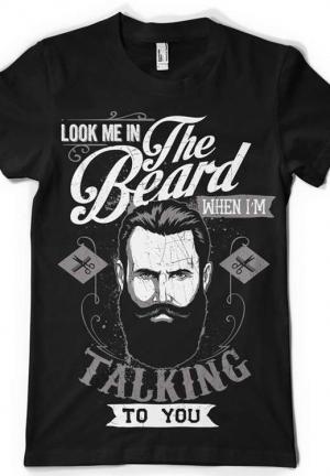 футболка look me in the beard