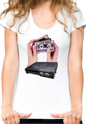 футболка love cassete hands white girls