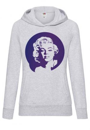 худи marilyn monroe hoodie white girls