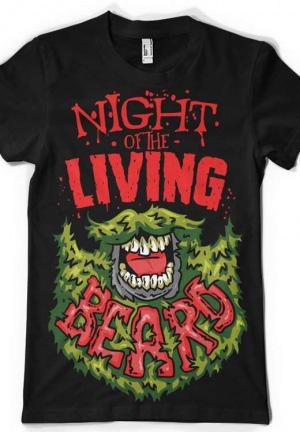 футболка night of the living beard