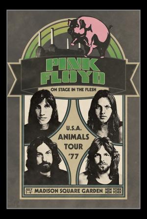 постер pink floyd animals poster