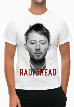 футболка radiohead с thom yorke