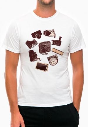 футболка retro camera